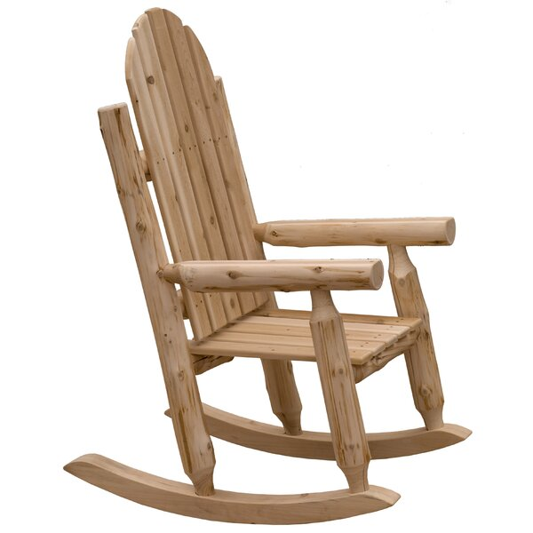 Mabe Solid Wood Rocking Adirondack Chair by Millwood Pines Millwood Pines