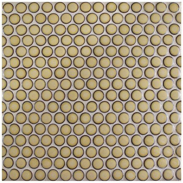 Penny 0.8 x 0.8 Porcelain Mosaic Tile in Café by EliteTile