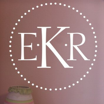 Personalized Dot Monogram Wall Decal by Alphabet Garden Designs