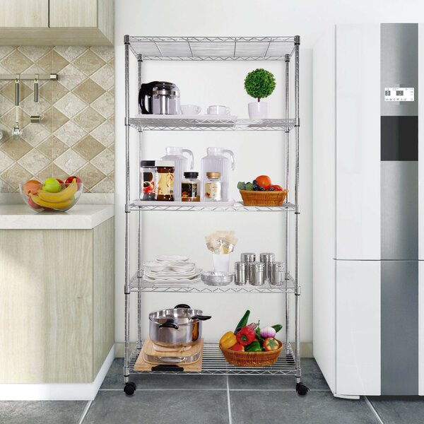 5 Shelving Unit on Wheels by Lifewit