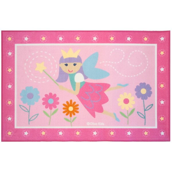 Olive Kids Fairy Princess Pink Area Rug by Wildkin