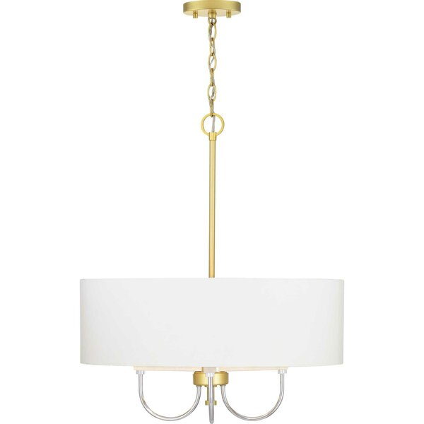 Mireille 4 - Light Shaded Drum Chandelier With Crystal Accents By Mercer41