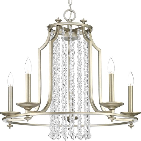 Joines 5 - Light Candle Style Wagon Wheel Chandelier by House of Hampton House of Hampton