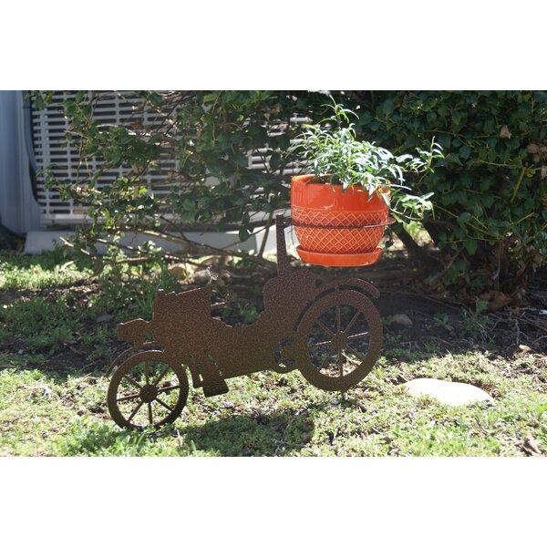 3D Metal Lawn Art Car Pot Planter by Riverstone Industries