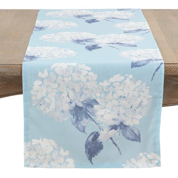 Paderne Hydrangea Table Runner by Gracie Oaks