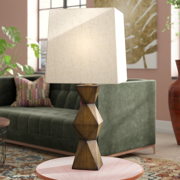 Chambray Stacked Diamond 20.5 Desk Lamp by Bloomsb