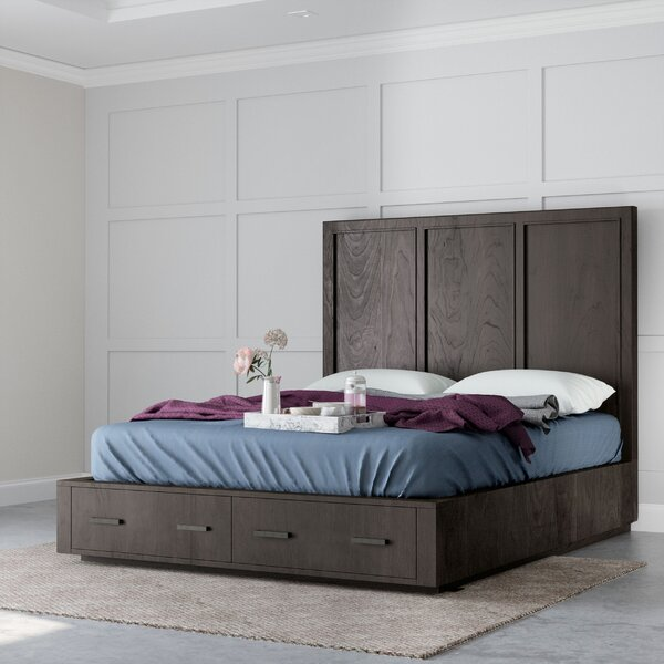 Adella Wooden Storage Platform Bed by Greyleigh