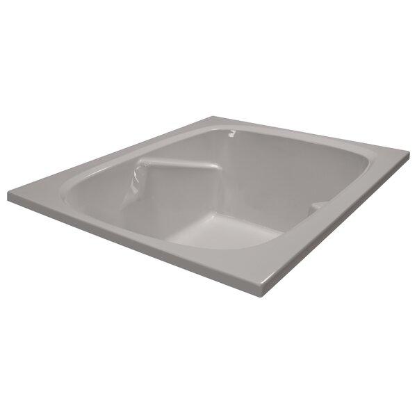 60 x 48 Soaker Arm-Rest Bathtub by American Acrylic