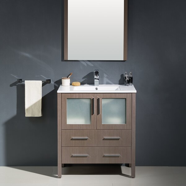 Torino 30 Single Bathroom Vanity Set with Mirror by Fresca