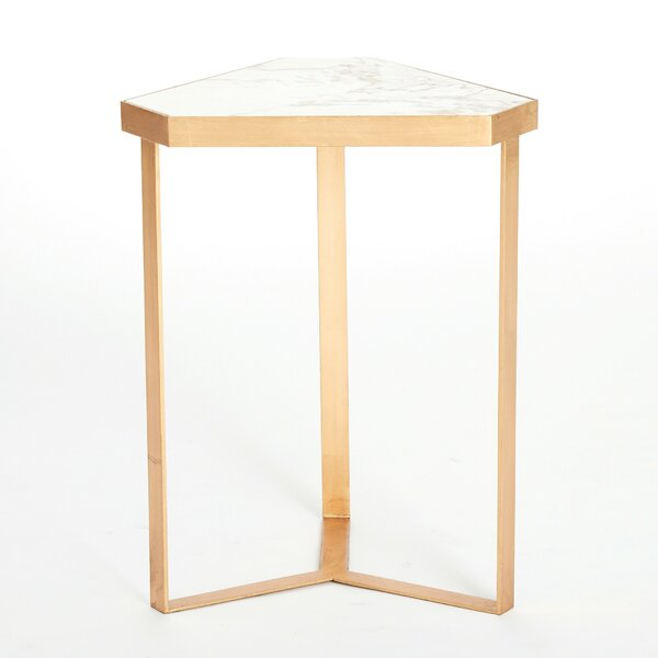 Tri-Hex Marble End Table By Global Views