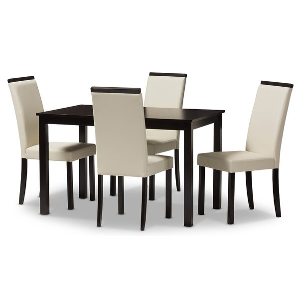 Quiroz Upholstered 5-Piece Dining Set by Winston Porter Winston Porter