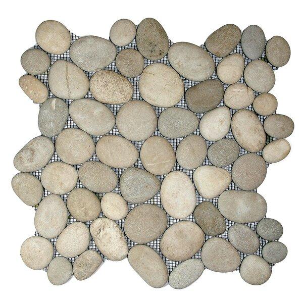 Yangtze Random Sized Natural Stone Mosaic Tile in Java Tan by CNK Tile