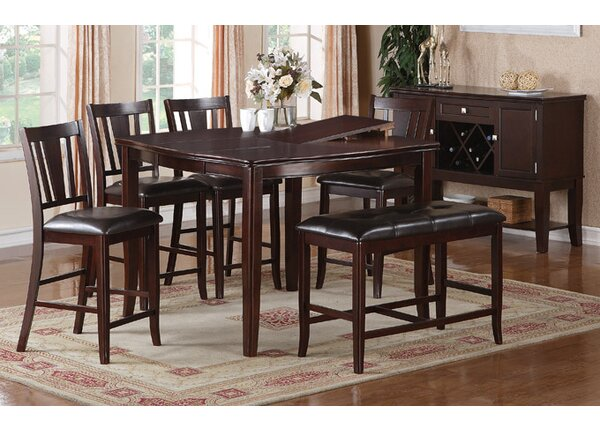 Melisa 6 Piece Counter Height Dining Set by A&J Homes Studio A&J Homes Studio