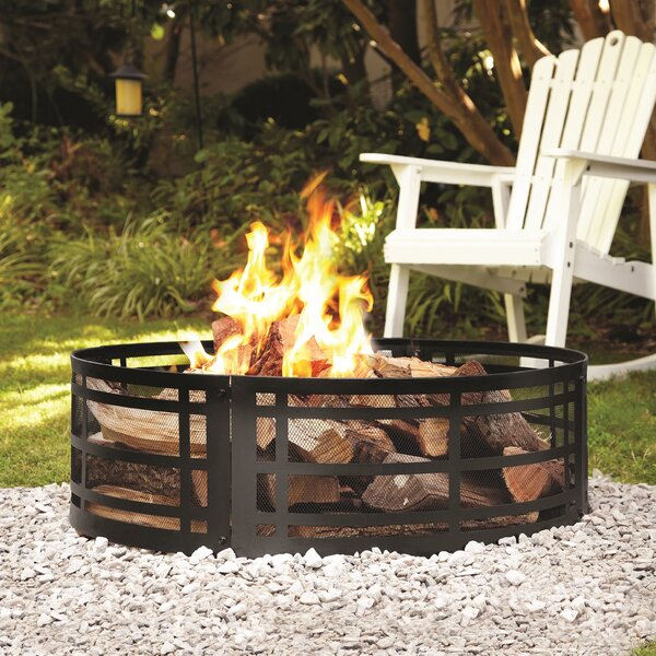 Steel Wood Burning Fire Ring By Pleasant Hearth.
