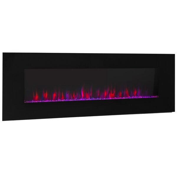 Jaxsone Wall Mounted Electric Fireplace By Orren Ellis