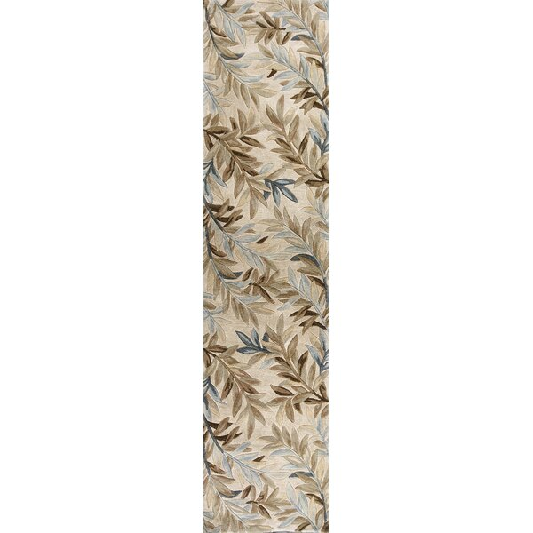 Murray Ivory Tropical Branches Area Rug by Bay Isle Home