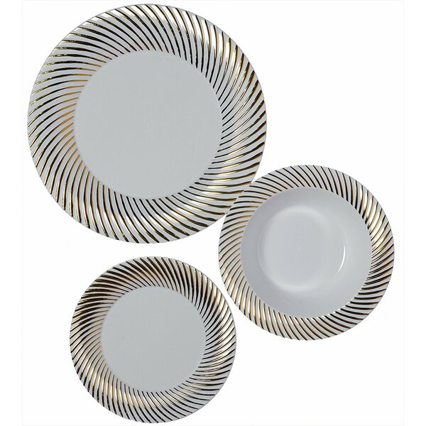 Cornejo Plastic 225 Piece Dinnerware Set, Service for 75 by Everly Quinn