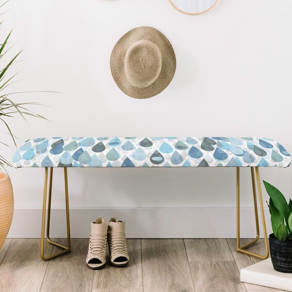 Lisa Argyropoulos Let It Rain Upholstered Bench by East Urban Home