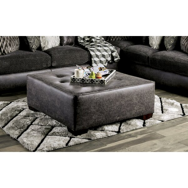 Hardaway Tufted Cocktail Ottoman by Millwood Pines Millwood Pines