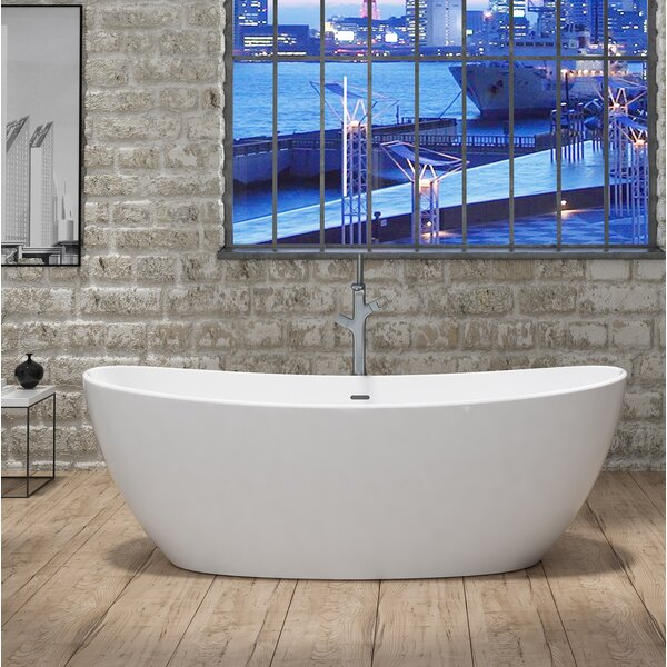 Manhattan 65 x 34 Freestanding Soaking Bathtub by CastelloUSA