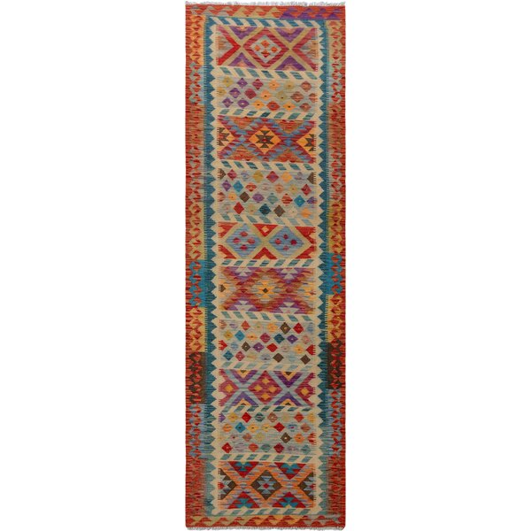One-of-a-Kind Aalborg Hand-Woven Red/Ivory Area Rug by Isabelline