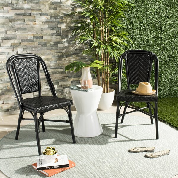 Rolf Stacking Patio Dining Chair (Set of 2) by Willa Arlo Interiors