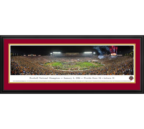 NCAA BCS Football Championship 2014 by James Blakeway Framed Photographic Print by Blakeway Worldwide Panoramas, Inc