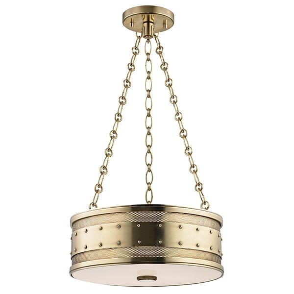 Gaines 3-Light Drum Chandelier by Hudson Valley Lighting