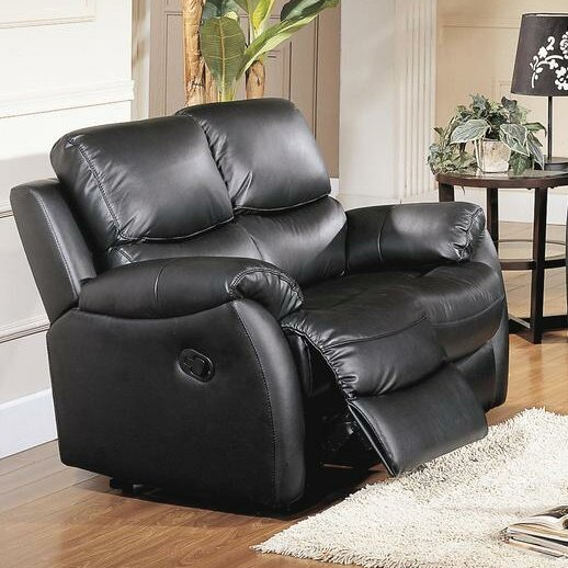 Brett Top Grain Leather Reclining Loveseat by Wildon Home ®