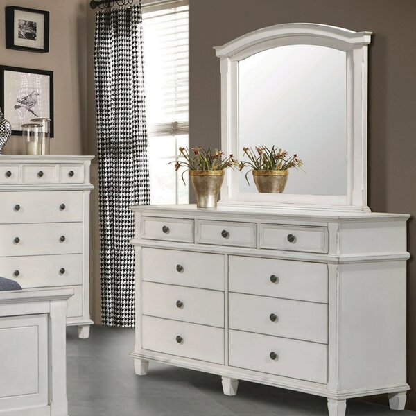 Lexie 9 Drawer Dresser with Mirror by Rosecliff Heights