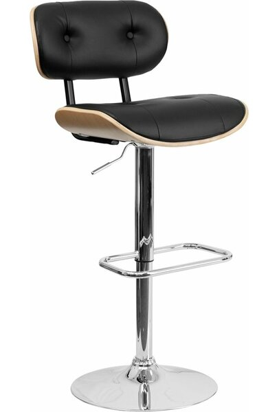 Eberhard Adjustable Height Swivel Bar Stool By Ebern Designs