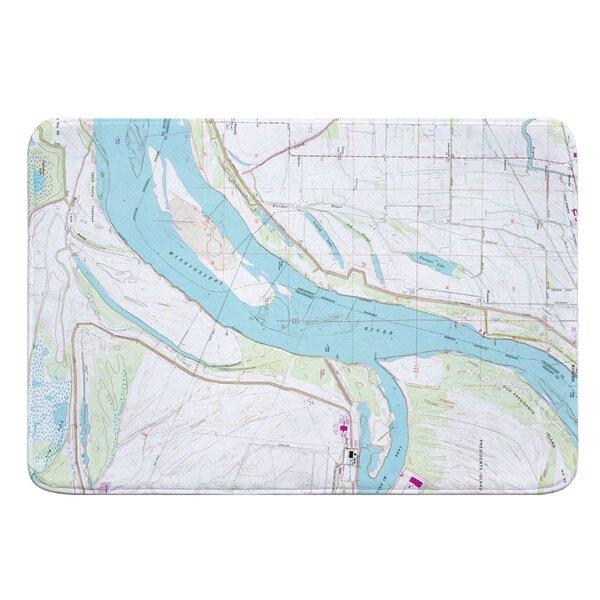 Nautical Chart Fletcher Lake, AR; MS River; Lake McKellar TN (1966) Bath Rug