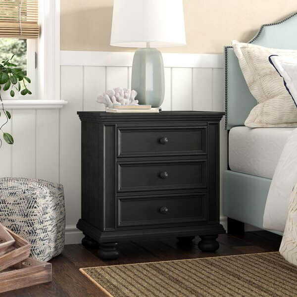 Marhill 3 Drawer Nightstand By Beachcrest Home by Beachcrest Home