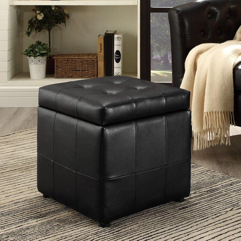 default_name - Zipcode Design Caroline Storage Cube Ottoman & Reviews Wayfair