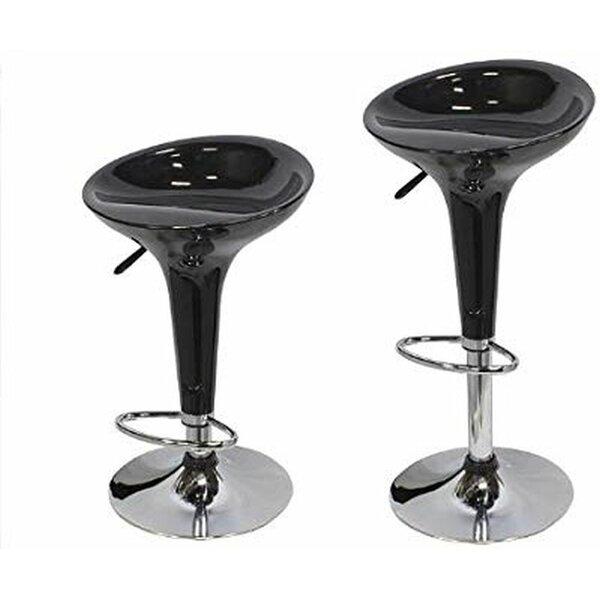 Maile Modern Hydraulic Adjustable Height Swivel Bar Stool (Set of 2) by Orren Ellis Orren Ellis