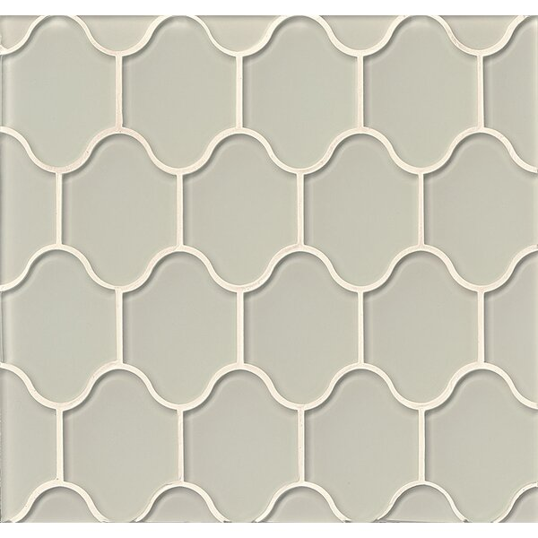 La Palma Glass Mosaic Tile in Glossy Fog by Grayson Martin