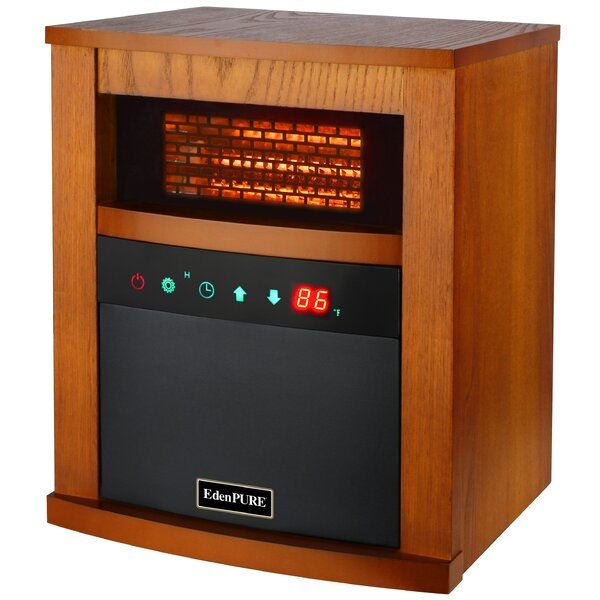 1,500 Watt Electric Infrared Cabinet Heater with Hybrid Heat Technology and Remote by EdenPURE