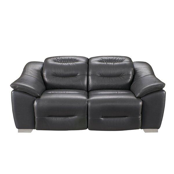 Kiro Reclining 2 Piece Leather Living Room Set by Orren Ellis