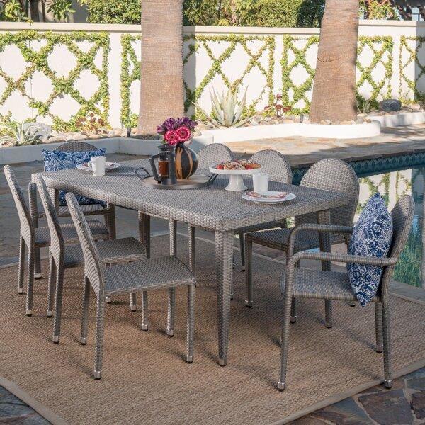 Rittenhouse Wicker Outdoor 9 Piece Dining Set by Brayden Studio