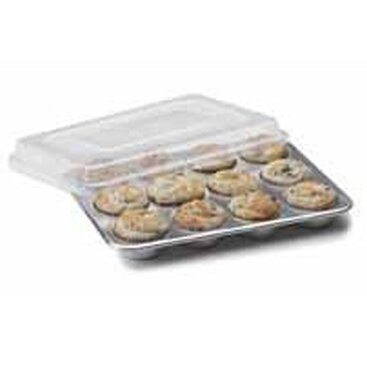 Natural Commercial 12 Cup Muffin Pan with Lid by Nordic Ware