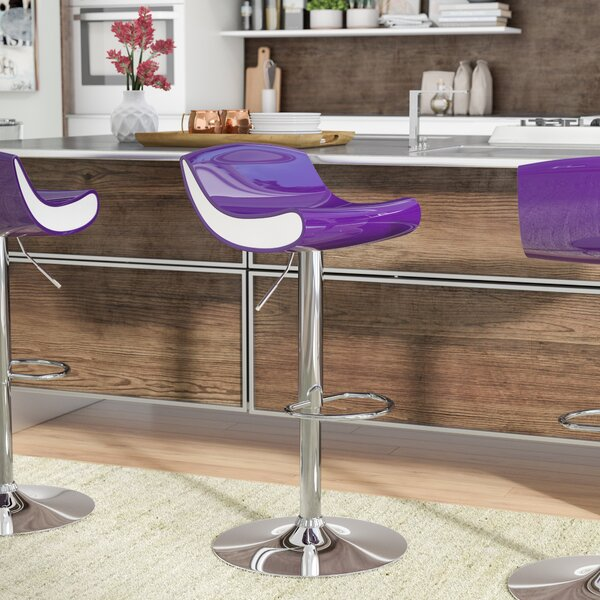 Arlington Adjustable Height Swivel Bar Stool by Ebern Designs