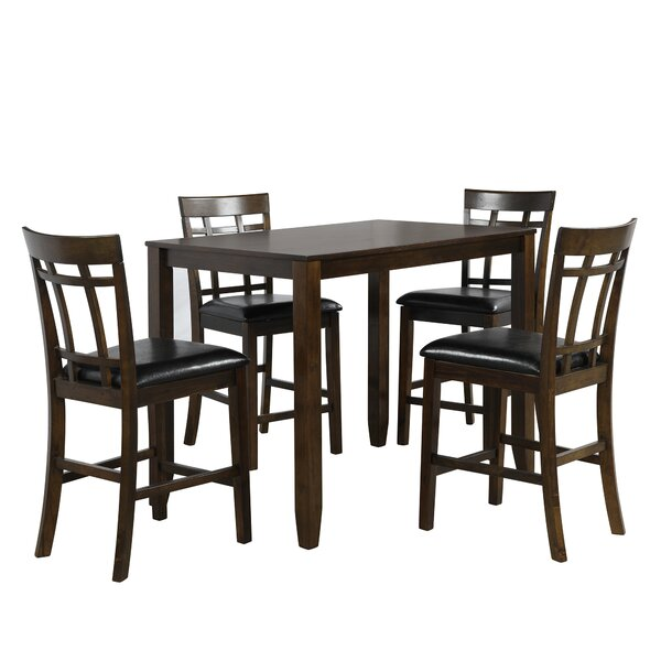 Alfonsi 5 Piece Counter Height Dining Set by Red Barrel Studio Red Barrel Studio