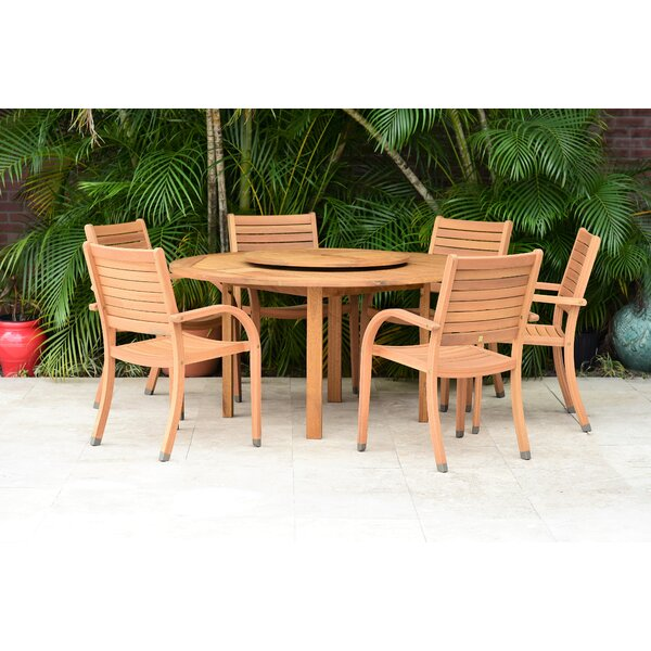 Sammy 7 Piece Teak Dining Set by Bayou Breeze