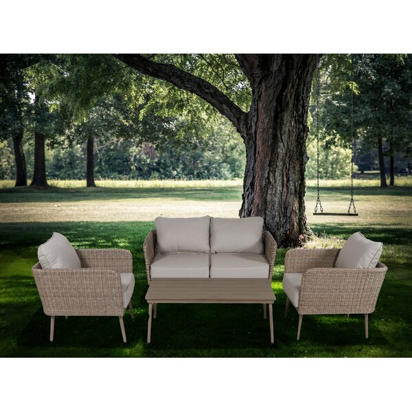 Pelchat 4 Piece Sofa Set with Cushions by George Oliver George Oliver