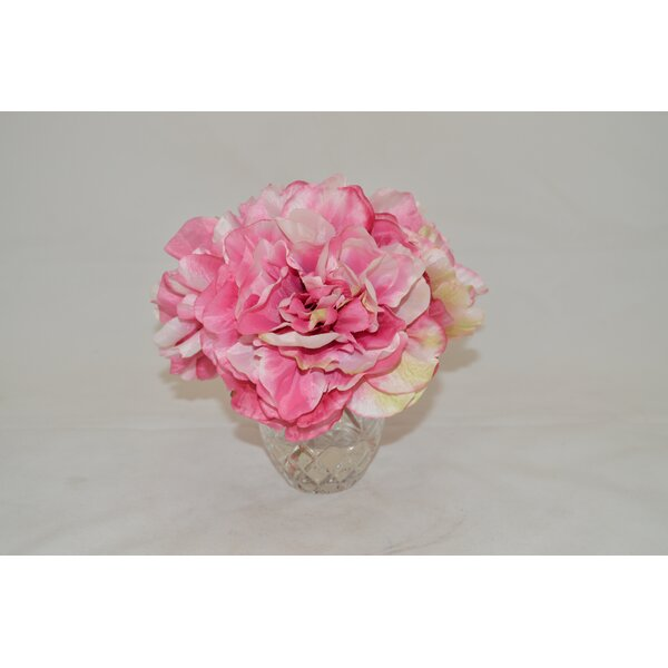 Pink Peonies in Etched Glass Vase by The French Bee