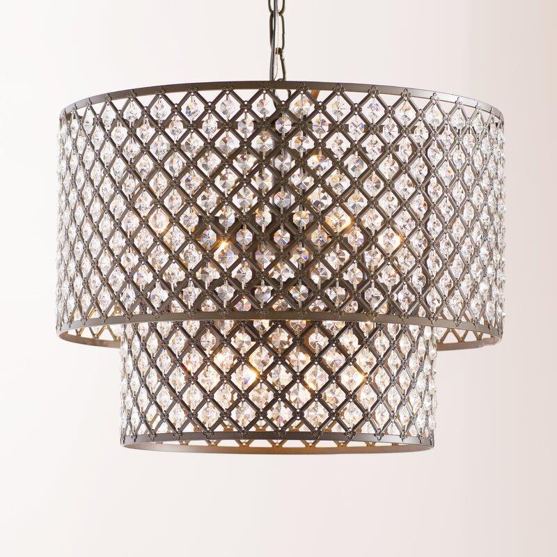 Cottonwood 8 light drum chandelier
