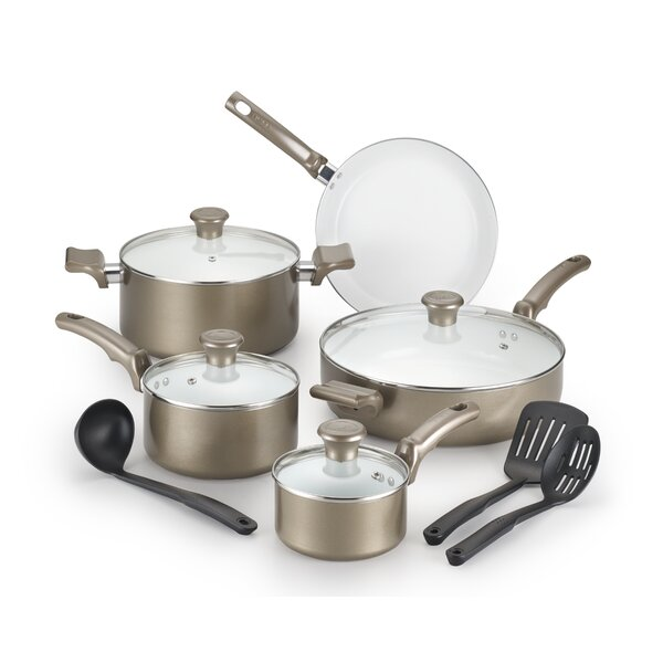 12 Piece Non-Stick Cookware Set by T-fal