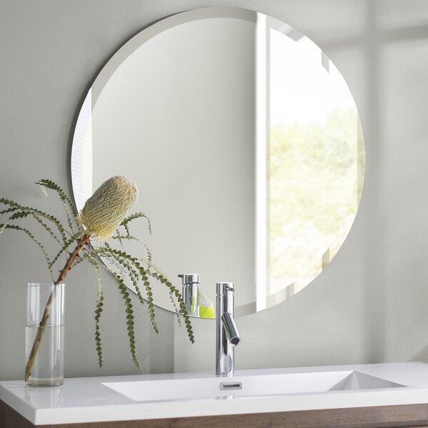 Greyson Frameless Round Wall Mirror by Langley Street