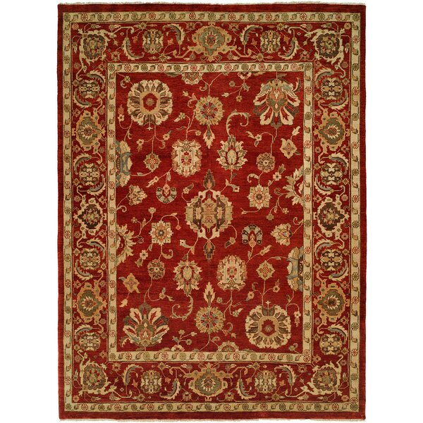Ushuaia Hand-Knotted Red/Beige Area Rug by Wildon Home ®