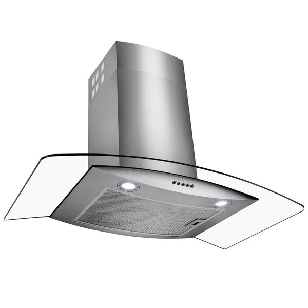 30 500 CFM Ducted Wall Mount Range Hood by AKDY